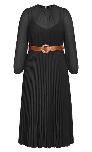 Love Pleat Dress - black