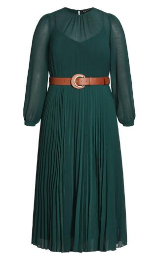 Love Pleat Dress - jade