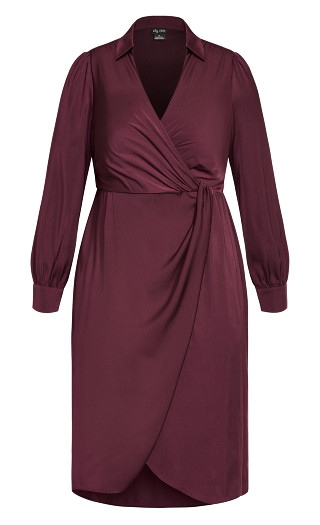 Collared Love Dress - plum