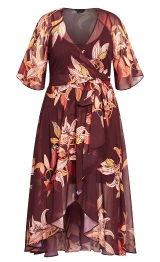 Desert Orchid Maxi Dress - plum