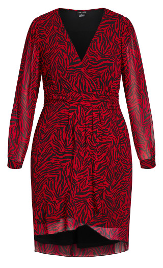 Crimson Tiger Dress - crimson