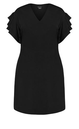 Double Frill Dress - black