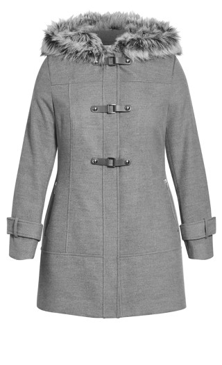 Wonderwall Coat - grey marle
