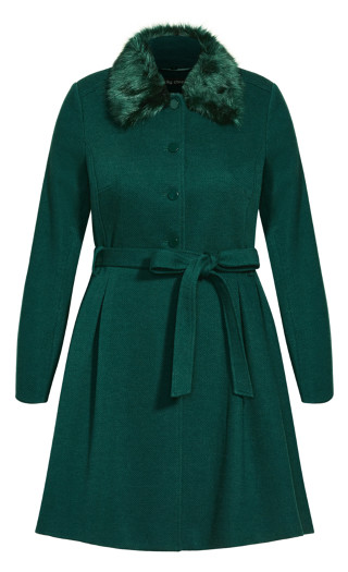 Blushing Belle Coat - jade
