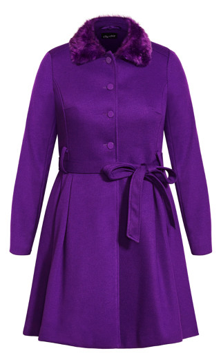 Blushing Belle Coat - petunia