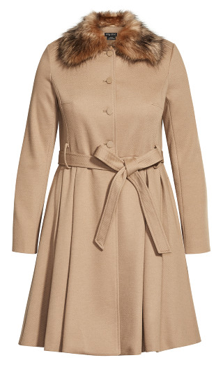 Blushing Belle Coat - taupe