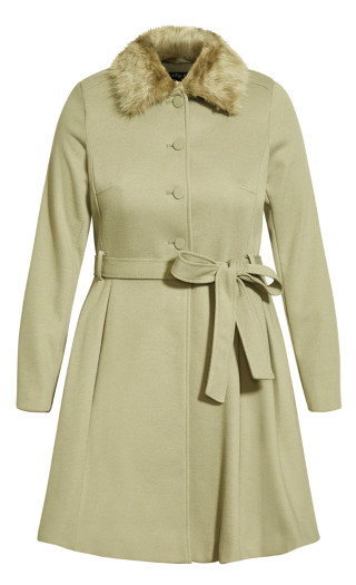 Blushing Belle Coat - winter pear