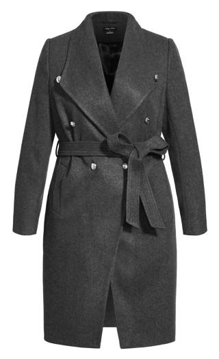 Sassy Military Coat - charcoal
