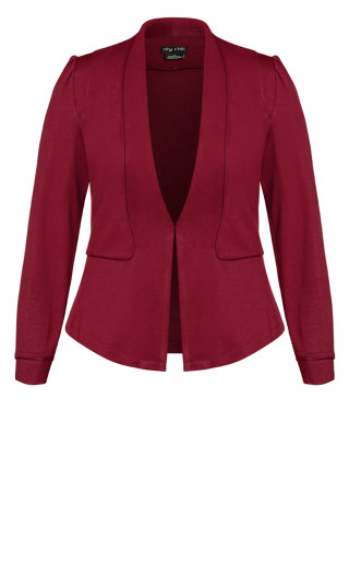 Piping Praise Jacket - sangria