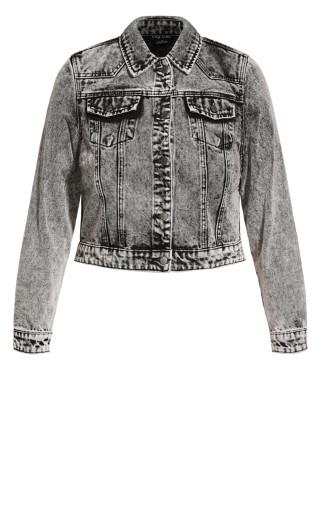 Denim Classic Jacket - black