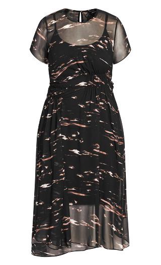 Moody Sky Dress - black