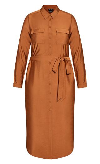 Belted Love Dress - ginger