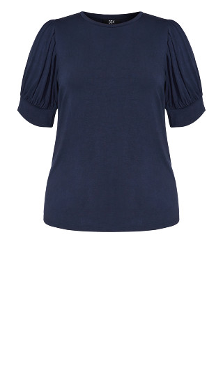 Sweet Sleeve Top - French navy