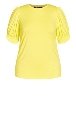 Sweet Sleeve Top - lemon