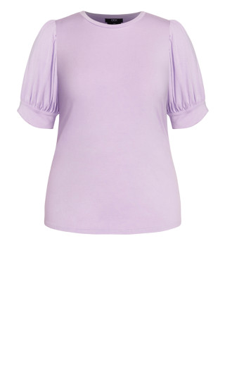 Sweet Sleeve Top - lilac