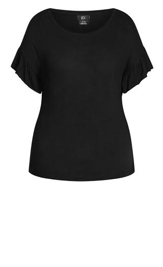 Cutie Sleeve Top - black
