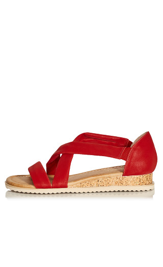 Pam Strappy Wedge - red