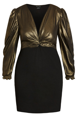 Opulence Dress - gold