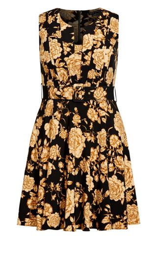 Vintage Luxe Dress - black