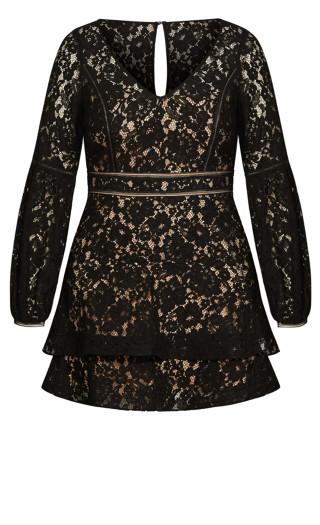 Lace Legacy Dress - black
