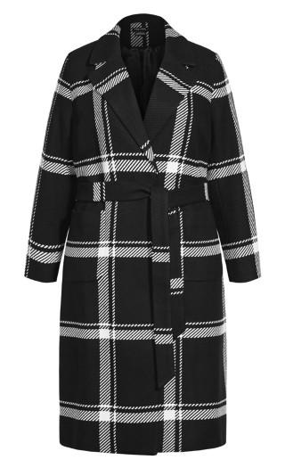 Checkmate Coat - black