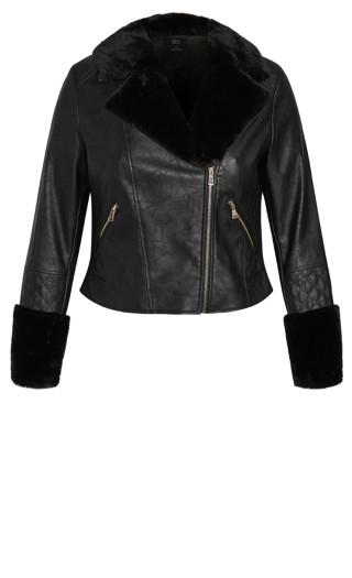 Faux Fur Madness Jacket - black