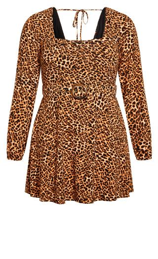 Animal Madness Dress - leopard