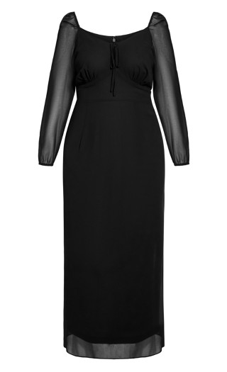 Youthful Maxi Dress - black