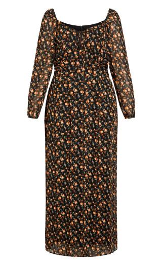 Underground Floral Maxi Dress - black
