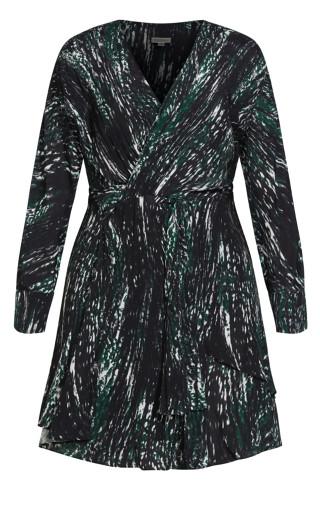 Twist Tracks Dress - black