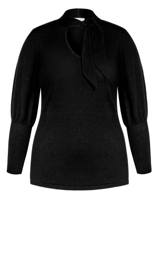 Soft Tie Jumper - black