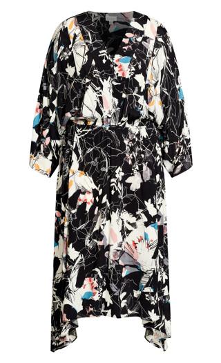 Prize Floral Dress - black