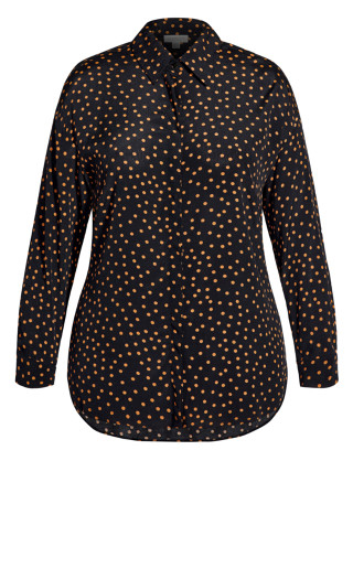 Mini Spot Shirt - black