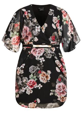 French Wrap Dress - black
