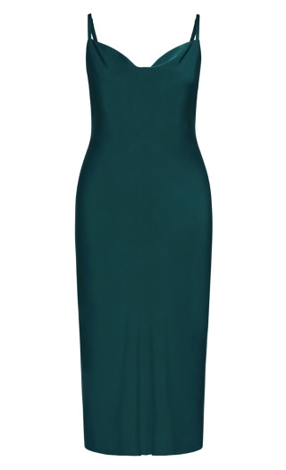 Shimmer Slip Dress - jade