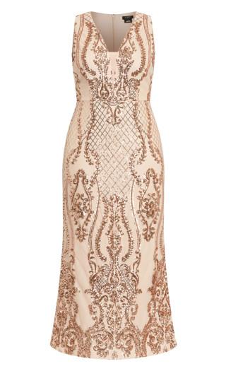 Luxurious Maxi Dress - rose gold