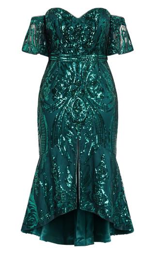 Glistening Dress - emerald