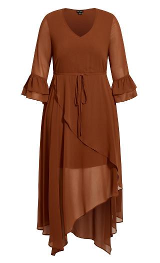 Hidden Treasure Maxi Dress - ginger