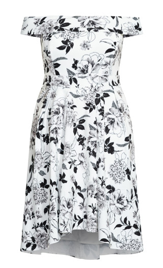 Flourish Dress - ivory