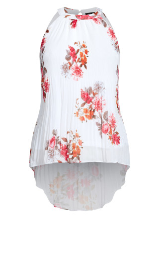 Floral Crush Top - ivory