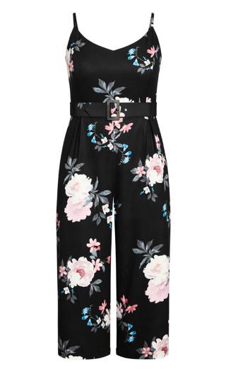 Precious Floral Jumpsuit - black