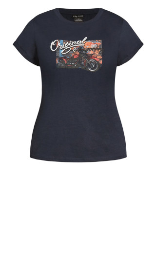 Back It Up Tee - navy