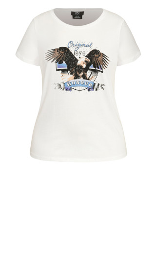 Born To Ride Tee - ivory
