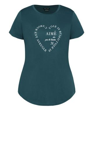 All Heart Tee - emerald