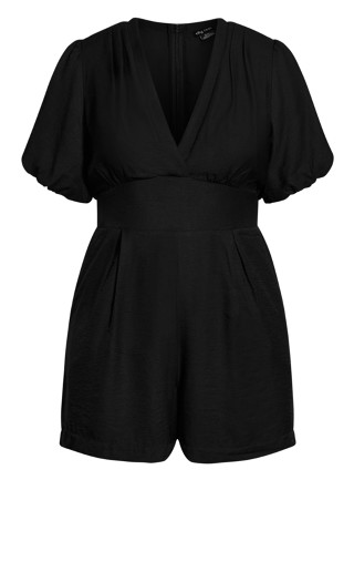 Sweet Sleeve Playsuit - black