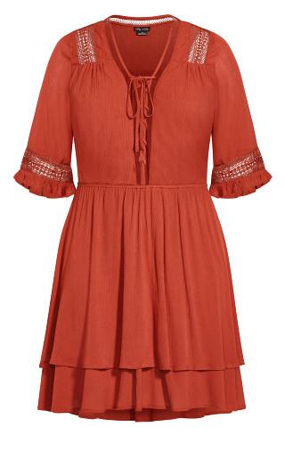Bring The Heat Dress - bronze