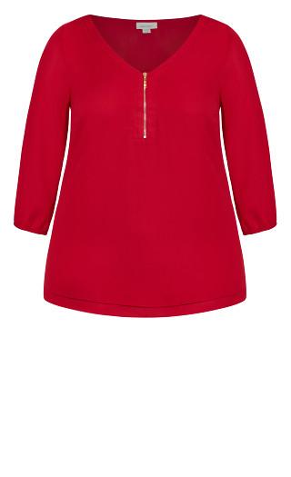 Meila Zip Top - red