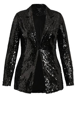 Sequin Seduction Jacket - black