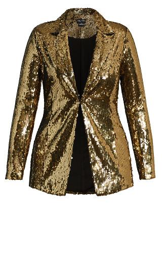 Sequin Seduction Jacket - bronze