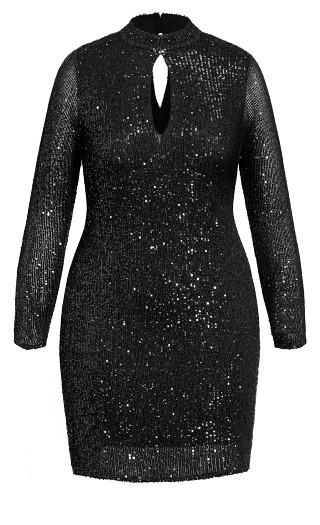 Glowing Dress - black